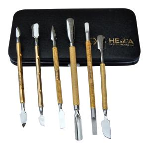 6 Pcs Nail Pushers Set Gold